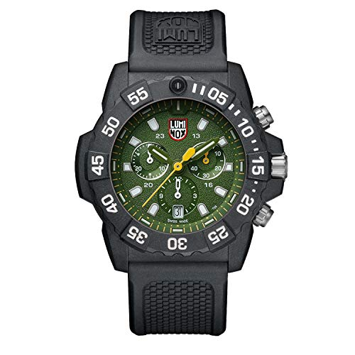 Luminox Men's 3597 Navy Seal Chronograph Black/Green Watch