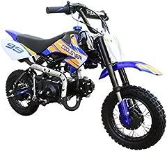 Coolster Kids Mini Dirt Bike 70cc Youth Gas Pit Bike Semi-Automatic 4-Speed CRF50 Style (Blue)