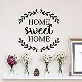 Adhesivo decorativo de pared para el hogar, diseño rústico, póster de pared, logotipo de bienvenida, Mural, hogar, dulce hogar, calcomanía de pared A8 42x44cm