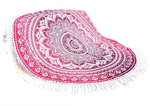 FUTURE HANDMADE 72''Pulgada Rosado Ombre Mandala Tapiz Mural Decor Indio Mandala Tapices Hippie Bohemio Tapiz