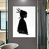 Geiqianjiumai Carteles e Impresiones Modernos más Dulces del Arte de la Lona Decoración del hogar Sala de Estar Imagen gráfica Pintura sin Marco 50x75cm