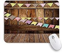 ECOMAOMI 可愛いマウスパッド 新しいファッション木の板の壁のテーマ 滑り止めゴムバッキングマウスパッドノートブックコンピュータマウスマット