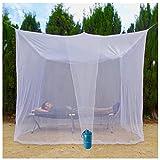 EVEN NATURALS MOSKITONETZ Doppelbett, großes Mückennetz für Bett, feinste Löcher, rechteckiger Netzvorhang Reise, Insektenschutz, 2 Einträge, einfache Anbringung, Tragetasche, Keine...