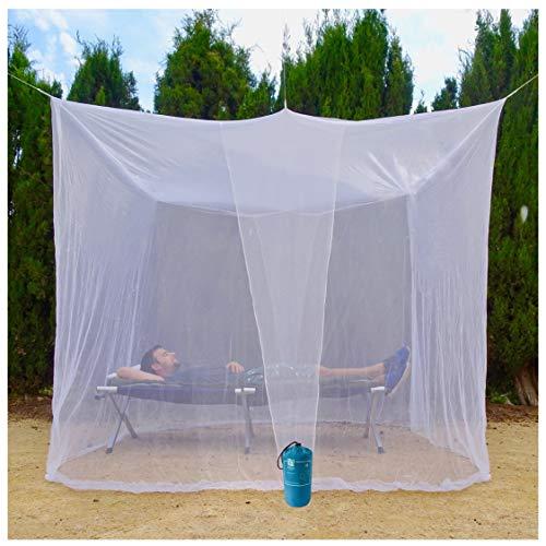 EVEN NATURALS MOSKITONETZ Doppelbett, großes Mückennetz für Bett, feinste Löcher, rechteckiger...