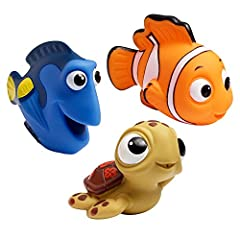 COLORFUL BATH TOYS FOR TODDLERS: These interactive toys visually engage toddlers SQUIRT TOYS: Squirting action for baby bathtime fun COMPACT SIZE: Easy grip for little hands EACH PACK CONTAINS: 3 squirt toys - Nemo, Dory and Turtle SUITABLE FOR: Ages...