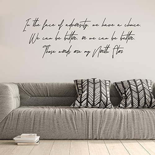 Viiry Wall Sticker Motivational Waterproof Large Bedroom Inspiring Saying Modern Style Waterproof - Wall Stickers Decoration for Chicken Red 55 x 17 inches