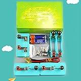 Shhjjyp Kit De Motor De Circuito EléCtrico Experimento Educativo NiñOs Juguete Kits De Aprendizaje Educativo Y Experimentos CientíFicos para Aprendizaje De Circuito De Principiante