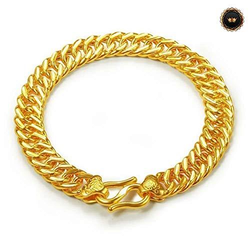 Z-Bracelet@ Reales Gold Armband Gelbgold Für Frauen Mann Armbänder 18Cm / 67.1In Länge Art- Und Weiseschmucksache-Lebenszei (Geschenkbox Senden)
