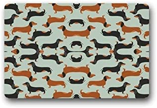 ZMvise Rubber Doormat Fashion Decorative Door Mat Custom Dachshund Dog Indoor Outdoor Carpet 18 x 30 inch