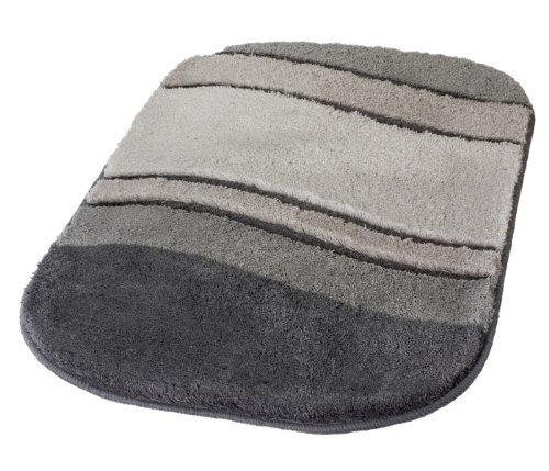 Kleine Wolke Tappeto da Bagno Serie Siesta, Poliacrilico, Anthrazit, 70 x 120 cm