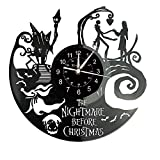 Smotly Vinilo Pared Reloj, un Reloj de Pared Grande con un Tema Pesadilla Antes de...