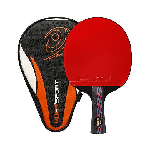 Ancees Tischtennis-Schläger, ITTF-Zugelassener Tischtennisschläger Professioneller Carbon Tischtennis Schläger Ideal für Anfänger und Fortgeschrittene Spieler