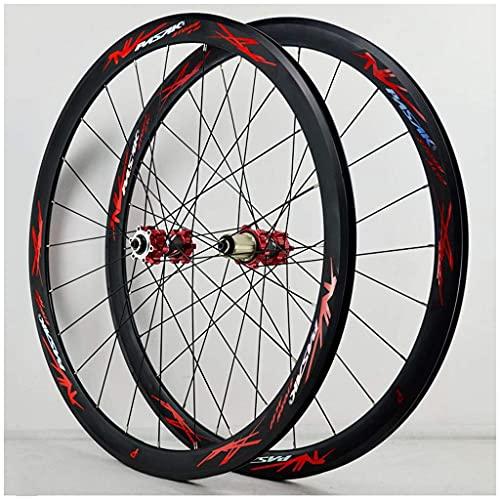 XCZZYC Juego de Ruedas de Bicicleta 700C MTB, Ruedas de Ciclismo de 29 Pulgadas, aleación de Aluminio de Doble Pared, 40 mm, Freno de Disco en V, Rueda de llanta de Bicicleta de Carreras