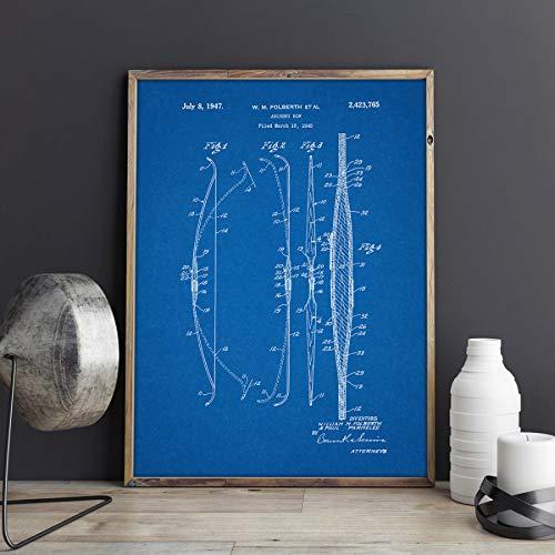 MXIBUN Cartel y Grabados Tiro con Arco Arco Caza Caza Arte de la Pared Imágenes Lienzo Pintura Regalo sin Marco 42 * 60 cm
