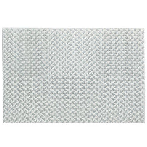 kela Tovagliette Plato 45x30cm in PVC plastica/Poliestere Bianco, 1 x 30 x 1 cm