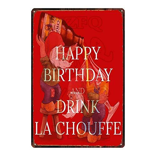 ADFGUYI Botella de Cerveza Letrero de Metal Vintage Cartel de Chapa Bar Café Garaje Cartel de Pared Art Deco Placa de Hierro 20x30cm 10