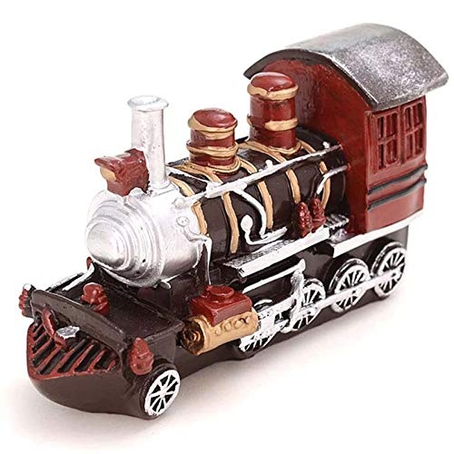 Model Train Ornaments Resin Crafts Retro Antique Ornaments,Home Cafe Shooting Props for Kids, Friends Gifts