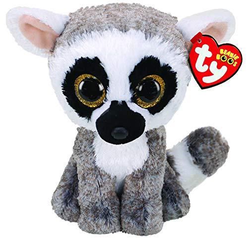 "Ty Beanie Boos 6"" Linus The Lemur"