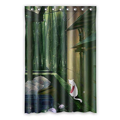 rideau bambou motif