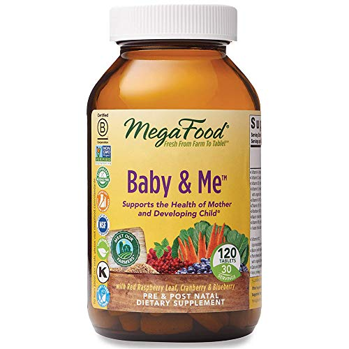 MegaFood, Baby & Me, Prenatal and Postnatal Vitamin with Folic Acid, Iron,...