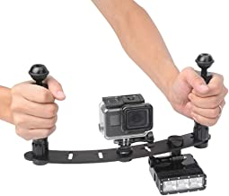TELESIN Handheld Stabilizer Tray Handle Grip for GoPro Hero 7 Hero 6 Hero 5 Black Camera, GoPro Dome Port Waterproof Housing Accessories, Camera Brackets for DSLR and All LED Video Light Camcorder