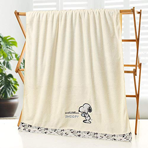 towells Strandtücher Großes Saugfähiges Handtuch Schnüren Sie Sich Dickes Saugfähiges Großes Handtuch @ Snoopy White_70 * 140-