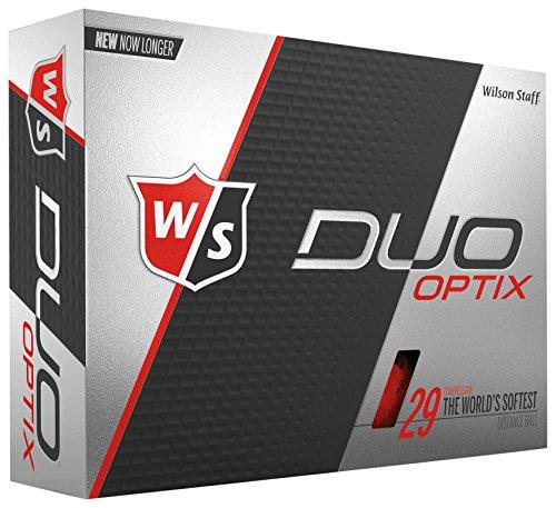 Wilson Staff DUO Optix Golf Ball, Soft, Red
