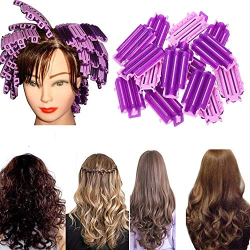 MZY1188 36 pcs Corn Hair Curler, Cold Wave Rods Hair Curler Roller Hairdressing Clip, Hair Styling DIY Tool for Salon Travel Home Use