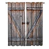 LWXBJX Cortinas Opacas de Dormitorio y Salón Ventanas - Puerta de madera...
