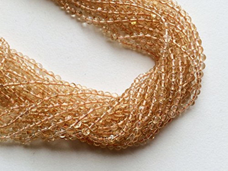 1 Strang Natur Orange Citrin Rundschliff Citrin Kugeln, Halskette, Citrin Edelstein Perlen, 3–4 mm, 35,6 cm B07652R2KQ Elegant und feierlich  | Moderner Modus