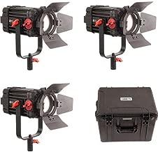 CAME-TV Boltzen 100W Fresnel Focusable LED Daylight 3-Light Kit