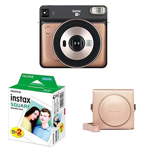Fujifilm Instax SQ 6 EX D Sofortbildkamera Starter Set, Blush Gold