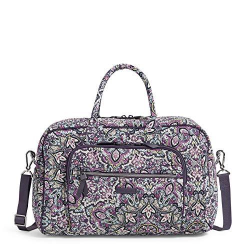 Vera Bradley women's Signature Cotton Compact Weekender Travel Bag, Bonbon Medallion, One Size