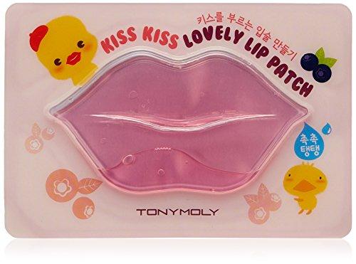 Tony Moly - 1 x Kiss Kiss Lovely Lip Patch - Patch rose pour les lèvres – Soin pour les lèvres donne du volume aux lèvres – Volume Booster - Lip Pad - Patch Levres