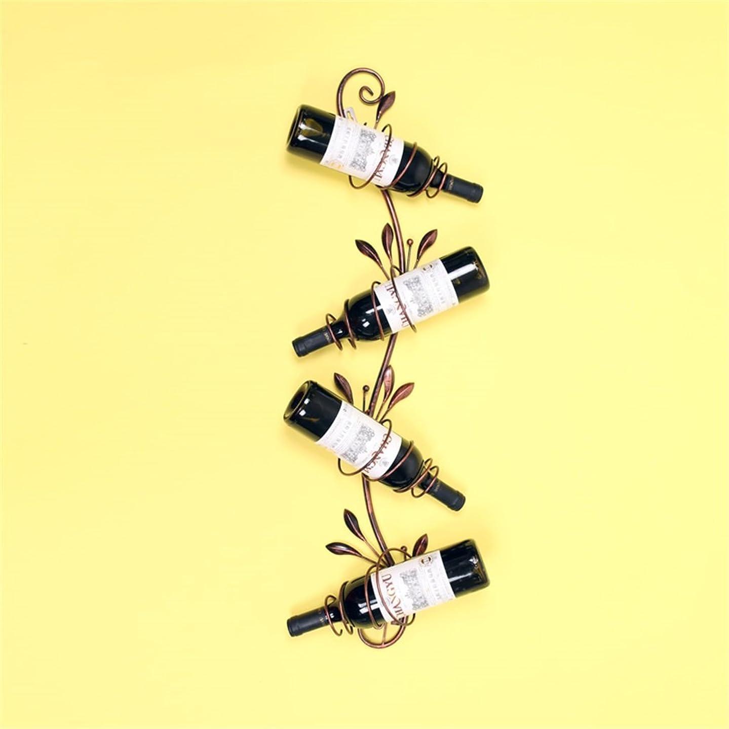 シャツ行商アウターJ-ワインホルダー ウォールマウント金属ワインラック、キッチン/バー/レストラン用ラック&ハンダー棚板 (色 : ブロンズ)