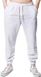 YYG Men Jogger Pants Drawstring Cotton Casual Active Hip Hop Sweatpants Pants Trousers