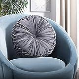 Safavieh Home Leila Grey Round Button Tufted Decorative Pillow Pillow