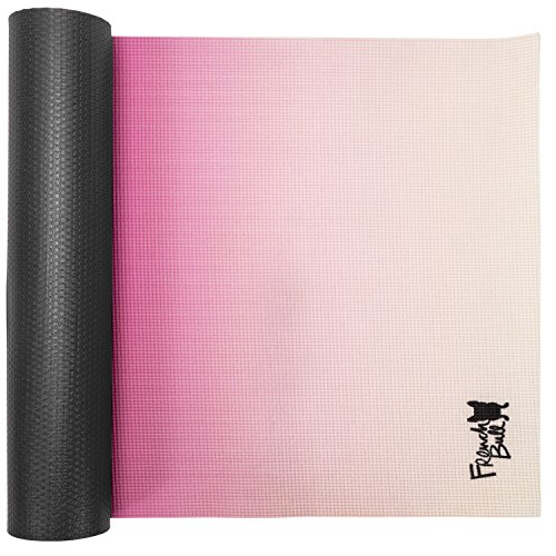 "WITHit French Bull Yoga Mat, 72"" x 24"", Pink Ombre – 5 mm Thick Yoga Mat, Easy to Clean, Lightweight and Durable, Non-Slip Yoga Mat, Latex Free, For Indoor and Outdoor Use"