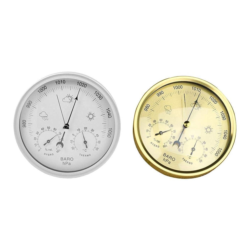 社会学ベルベットコンパニオン壁掛け 温度計 気圧計 湿度計 気象計 天気予報ステーションデジタル 予測気象警報 サーモメーター バロメーター トリプルメーター