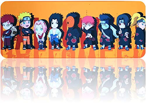 """Naruto Mouse Pad Large Gaming Anime Mousepad, Waterproof Non-Slip Mouse Mat with Stitched Edges for PC, Laptop (31.5""""x11.8"""")"""
