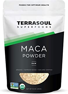 Terrasoul Superfoods Maca Powder (Organic), 16 Ounce