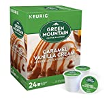 Keurig Coffee Pods K-Cups 16 / 18 / 22 / 24 Count Capsules ALL BRANDS / FLAVORS (24 Pods Green Mountain - Caramel Vanilla Cream)