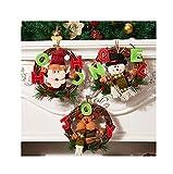 ERTLKP Guirnalda de Papá Noel, muñeco de nieve, alce de ratán, adorno de ratán, decoración de Navidad en la parte delantera de las paredes interiores y exteriores en 2021 (3 unidades)