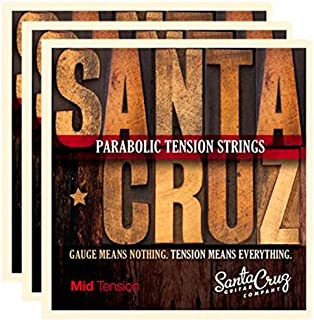 Santa Cruz Parabolic Tension Acoustic Guitar Strings Mid Tension (3 Pack)