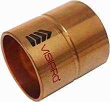 Visiaro Copper Coupling, Pipe Fittings, Inner Diameter - 1 inch and Wall Thickness - 18 guage, Pack of 1 pcs