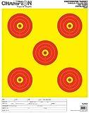5-Bull Paper Target, Yellow/Orange, 8.5x11, 12/pk