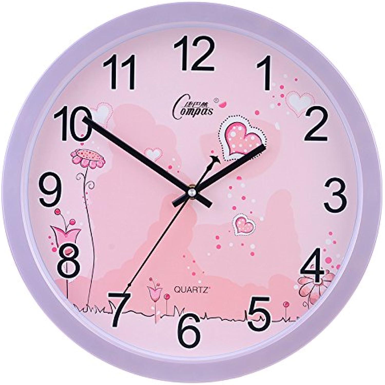 diseño único Tendencia minimalista, elegante reloj de parojo de cuarzo de de de 12 pulgadas tranquilo salón dormitorio Reloj de parojo,12 pulgadas,B-morado  respuestas rápidas