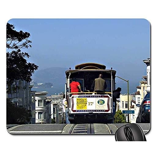 Mausunterlage-San Francisco-Drahtseilbahn Alcatraz-Gefängnis-Stadt USA