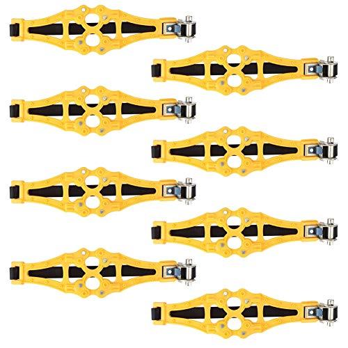 Cadena de nieve para neumáticos, 8 piezas de cadena de nieve universal resistente al desgaste, cadenas de ruedas para coches de pasajeros Camiones fangosos Camiones Caminos helados Campos