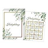 50 tarjetas bingos de boda, divertido juego de boda para invitados, juegos de boda para invitados, regalo de boda, decoración de boda (verde dorado)